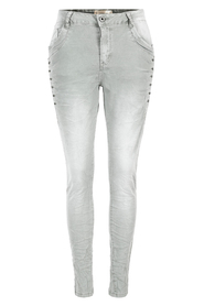 Stretch jeans, washed with strass