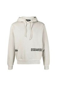 Cropped logo-print hoodie