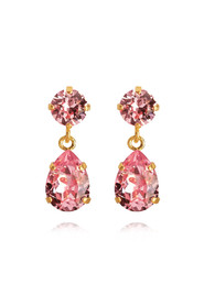 Rosa Caroline Svedbom Mini Drop Earring Light Rose Øredobber