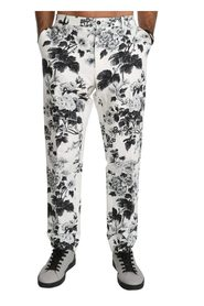 Floral Slim Casual Trousers