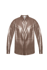 Shirt from vegan leather
