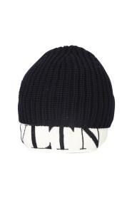 Ribbed Knit Logo-Hem beanie