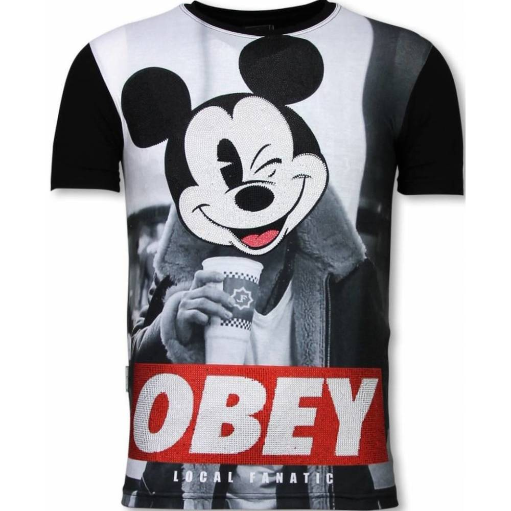 Obey Mouse  - Digital Rhinestone T-shirt