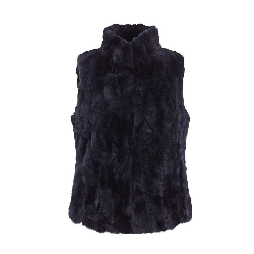 Natures Collection Katy pels  Vest  Midnight Blue