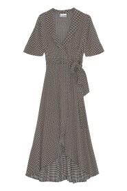 Mønster Ganni Wrap Dress Kjole