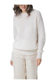 MOHAIR CASHMERE SILK CREW NECK SWEATER