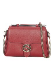 Pre-owned Interlocking G Leather Satchel