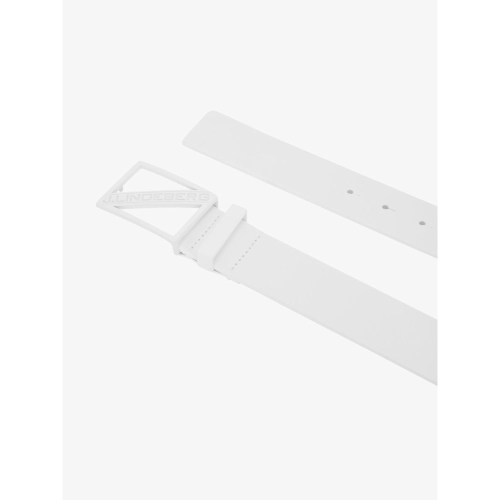 Belt Slanted White Leather