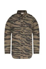 Camo-motif shirt
