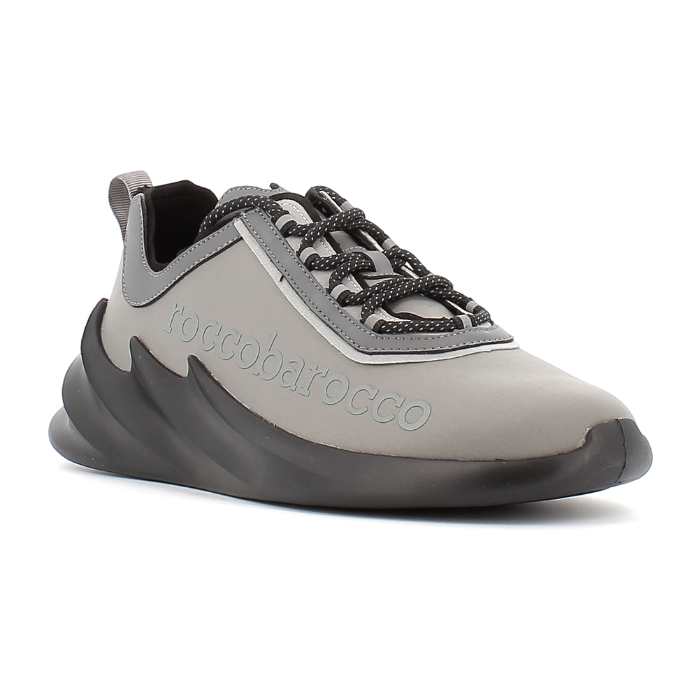 Roccobarocco Gray Men's shoes 42 A20 Roccobarocco
