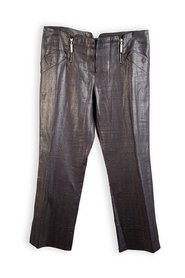 Linen Cropped Pants Trousers Size 44 IT