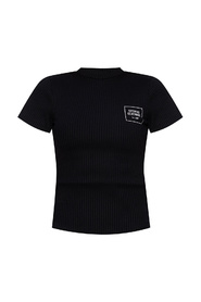 Ribbed T-shirt with logo