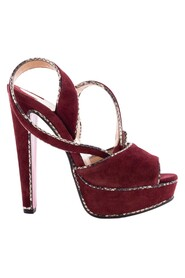 Suede Loulou Dance Platform Ankle Strap Sandals