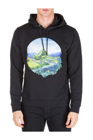 men's hoodie sweatshirt sweat Painted Landscape