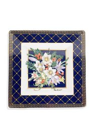 Rosenthal Porcelain Square Ashtray Floral Theme