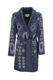 Wool knit coat