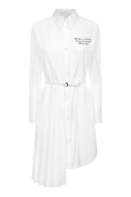 shirt dress with pleated panel