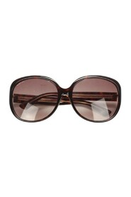 Pre-owned Tinted Round Sunglasses Brown