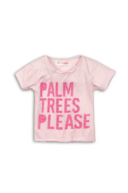 Minoti Beachy05 t-shirt Palm Trees Please roze meulee