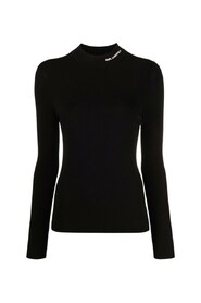 Embroidered logo knitted jumper