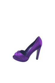 Satin Peep-Toe Pump