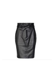 Sort Co`Couture Phoebe Leather Skirt Skjørt