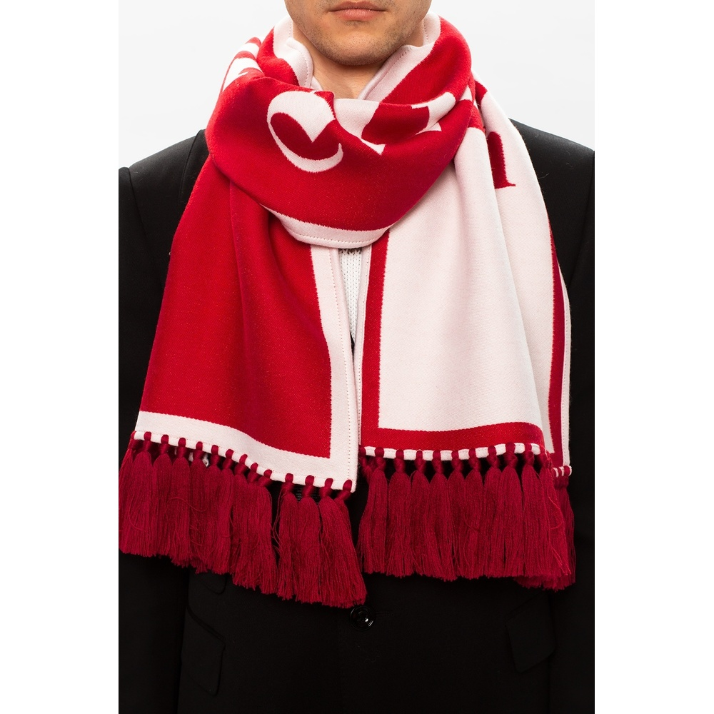 Red Logo scarf | Palm Angels | Sjaals | Heren accessoires