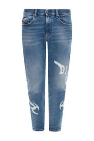 D-Strukt jeans with raw edge