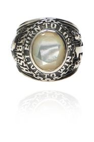 Ring with embossed pattern