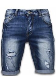 Korte Broeken Slim Fit Torn Look