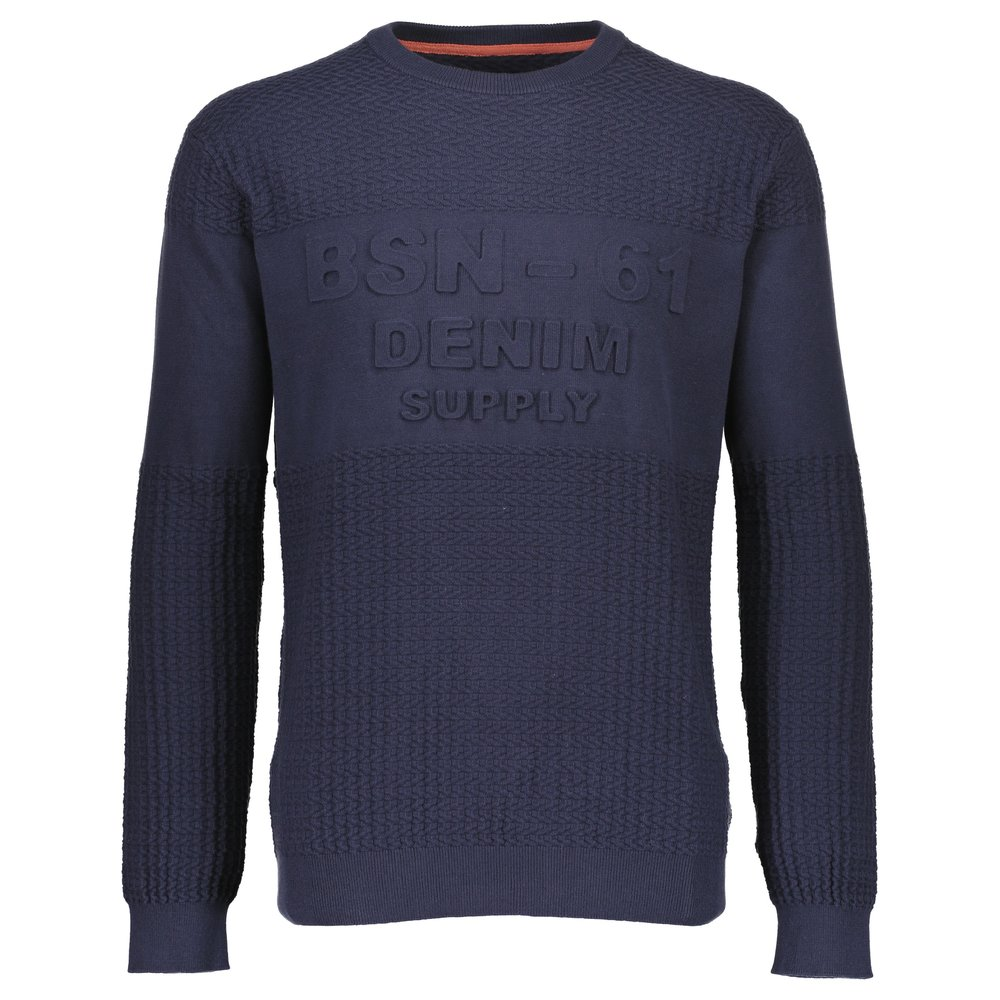 O-neck structure knit