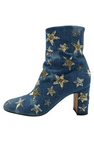Pre-owned sequined star boots