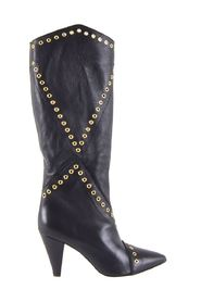 Paris women's high boots with black studs