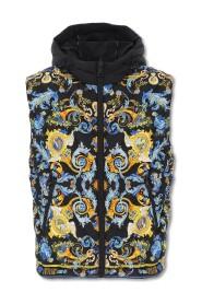 Baroque Pattern Reversible Down Vest