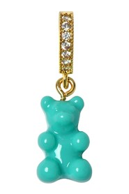 Nostalgia Bear and Pave Connector Pendant