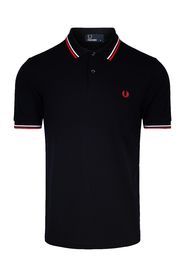 Navy Fred Perry Twin Tipped Fp Pique