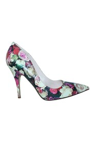 Floral Pointed Toe Heels