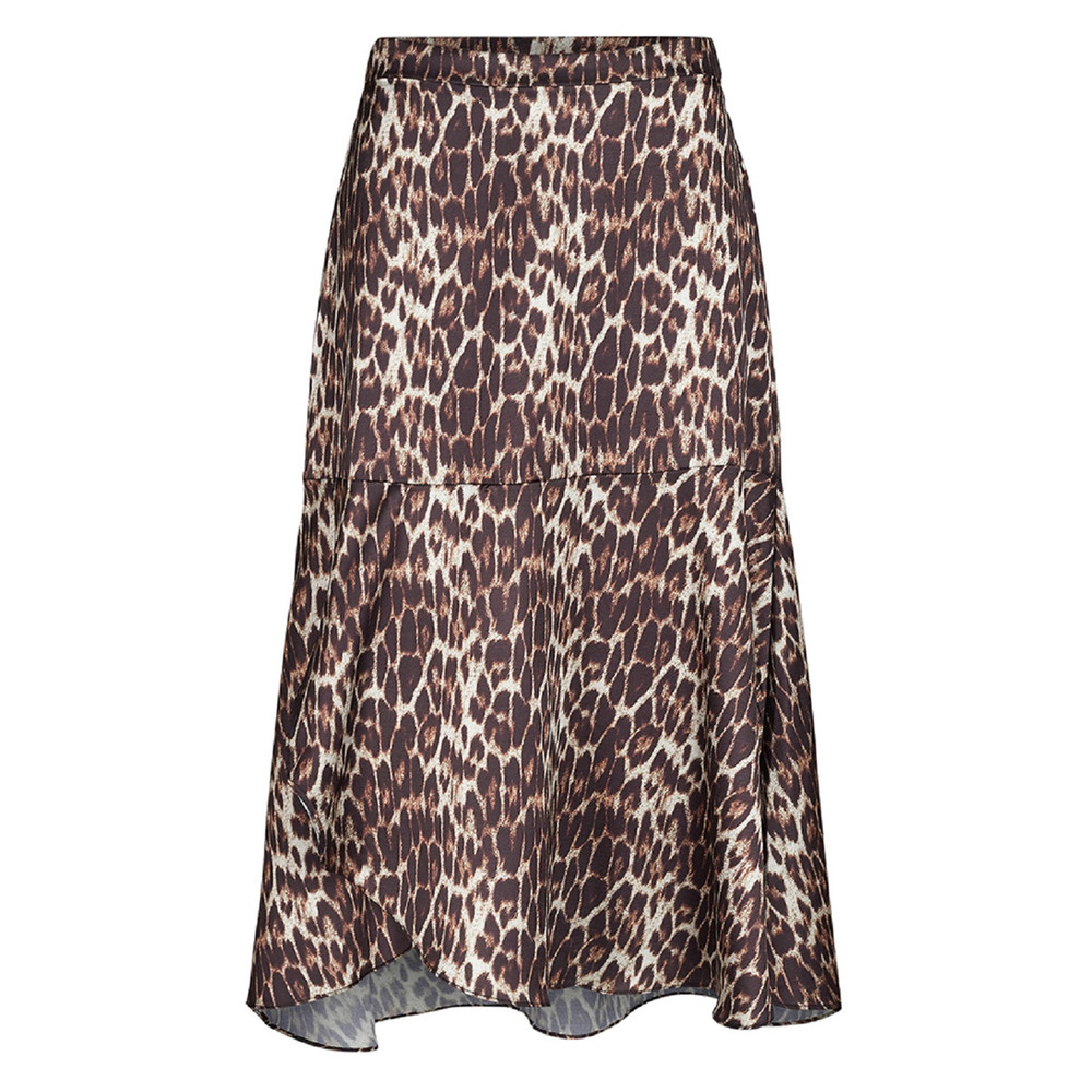 Animal sateen leo nederdel - Co'couture