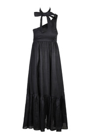 EMPIRE TIE NECK Maxi DRESS