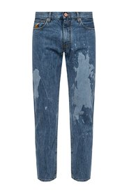 Paint splatter effect jeans
