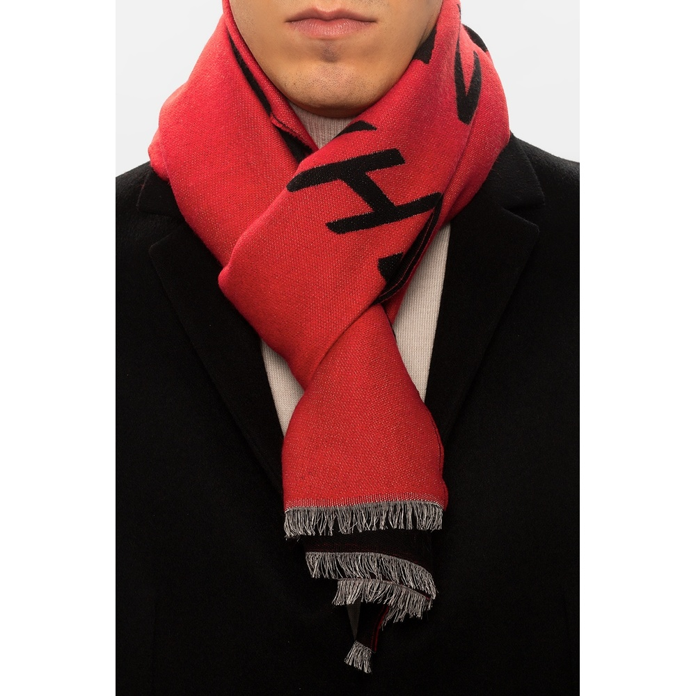 Red Wool scarf with logo | Givenchy | Sjaals | Heren accessoires
