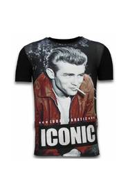 James Dean Iconic - Digital Rhinestone T-shirt