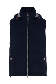 Cashmere padded sleeveless outerwear