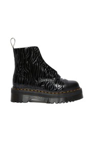 Sinclair Zebra patent embossed leather platform boots