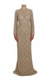 Floral Lace Sheath Maxi Dress
