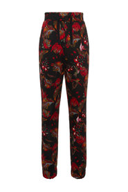 Knit trousers floral