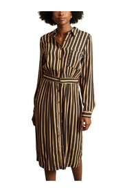 Reception Striped Shirt Dress