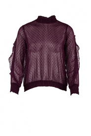 Woven grape bluse