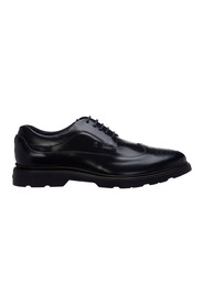 men's classic leather lace up laced formal shoes derby h304
