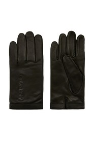 CALVIN KLEIN K50K505045 DEBOSS LOGO GLOVES Men BLACK